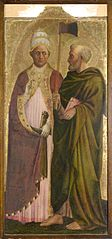 A Pope (Saint Gregory?) and Saint Matthias