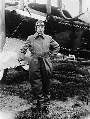 Mason Patrick - Maj. Gen. Mason M. Patrick, learning to fly. Patrick obtained a rating of Junior Airplane Pilot in 1922 at the age of 59 years.