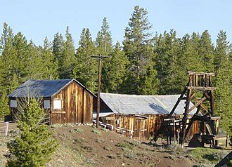 Leadville, Colorado - Matchless mine and Baby Doe Tabor cabin