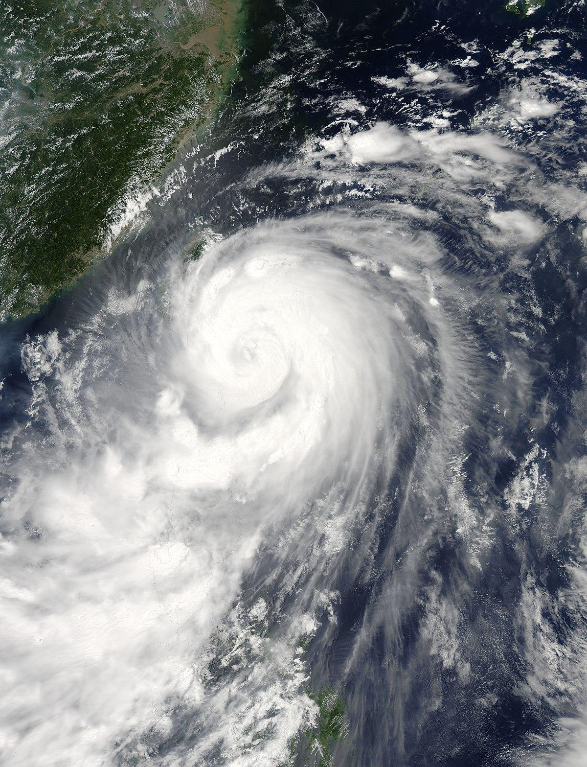 Tyfonen matmo drabbar taiwan
