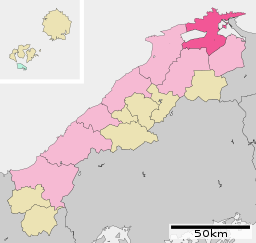Matsue in Shimane Prefecture Ja.svg