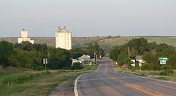 Maywood, seen from the west along Nebraska Highway 23