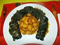 Mbongo tchobi et banae plantin malxé.jpg