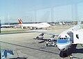 McDonnell Douglas DC-8-63 C-FCPO Worldways Canada, London Gatwick (LGW) - UK, August 1990. (5718152614).jpg
