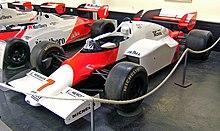 La McLaren usata da Prost nel 1984.