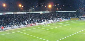 Hereford United F.C. - The Meadow End, November 2007