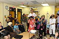 Medical clown Hilary Chaplain at Shaare Zedek hospital No.129 - Flickr - U.S. Embassy Tel Aviv.jpg