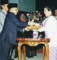 Megawati Sukarnoputri presidential election, 2001.jpg