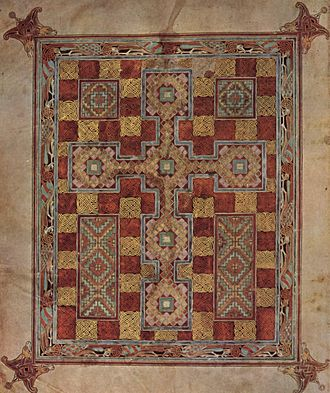 Carpet page - A carpet page from the Lindisfarne Gospels