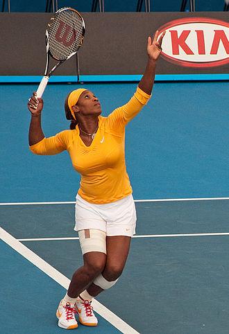 2010 WTA Tour - Image: Melbourne Australian Open 2010 Serena Serve