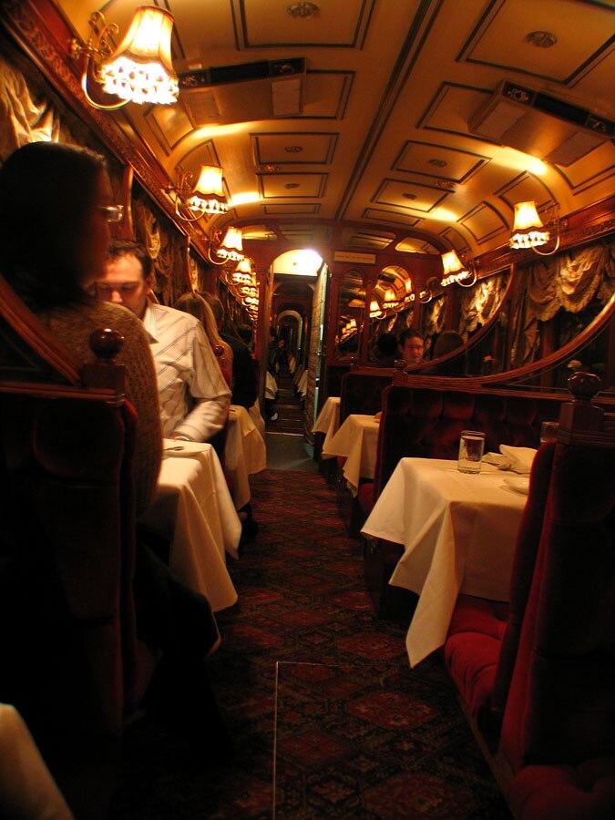 Melbourne Colonial Tramcar Restaurant interior, September 2006