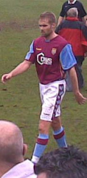 Olof Mellberg - Playing for Aston Villa.