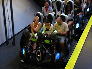 Men in Black: Alien Attack - Some of the ride's vehicles