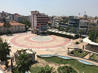 Menemen - A view of Republic Square in Menemen