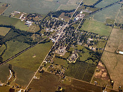Mentone from the air, looking southwest