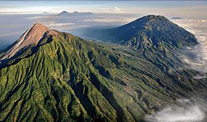 Volcanology of Java - Seven of the active volcanoes of Java