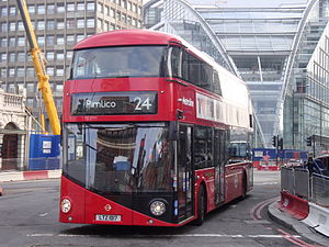 London Buses route 24 - Metroline New Routemaster in Victoria in March 2014