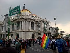 Mexico City Pride 2016 on Bellas Artes Palace.jpg