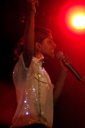 M.I.A. (rapper) - M.I.A. performing at the Prince in Melbourne in February 2006.