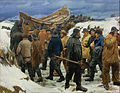 Michael Ancher - The Lifeboat is Taken through the Dunes - Google Art Project.jpg
