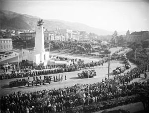 1940 in New Zealand - The state funeral procession for Michael Joseph Savage, April 1940