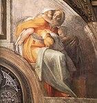 Michelangelo - Sistine chapel ceiling - Asa - Jehoshaphat - Joram.jpg