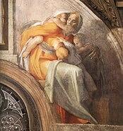 Michelangelo - Sistine chapel ceiling - Asa - Jehoshaphat - Joram