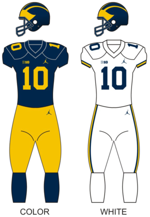 2017 Michigan Wolverines football team - Image: Michigan wolverines football uniforms