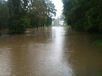 Pomona, Queensland - Mill Street, Pomona, during the February 2013 Eastern Australia floods.
