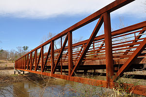 Knightdale, North Carolina - Bridge that connects Knightdale's Mingo Creek Greenway to Raleigh's Neuse River Greenway.