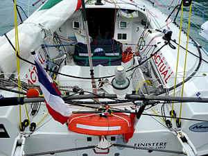 Mini Transat 6.50 -  View to cockpit from stern
