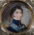Miniatyrporträtt, Karl XIV Johan, serafimerorden kraschan - Livrustkammaren - 32923.tif