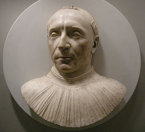 Guillaume d'Estouteville - Bust of Guillaume d'Estouteville done shortly after his death by Mino da Fiesole,  Metropolitan Museum, New York City