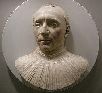 Guillaume d'Estouteville - Bust of Guillaume d'Estouteville done shortly after his death by Mino da Fiesole,  Metropolitan Museum, New York City