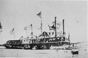Steamboats of the Colorado River - Image: Mohave No. 2 at Yuma 1876