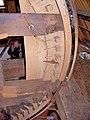 Molen Holten's Molen kap bovenwiel achterkant vangstukken onderbroken.jpg