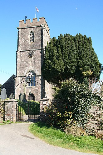 Molland - St Mary's Church, Molland. View of the tower from the west