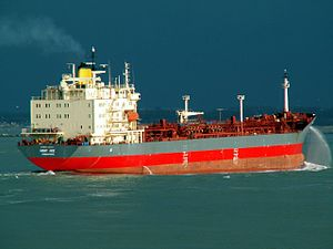 Mont Ace p1 approaching Port of Rotterdam, Holland 11-Feb-2006.jpg