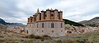 Montalbán - Iglesia del Apóstol Santiago el Mayor - Vista desde el ábside 02.jpg