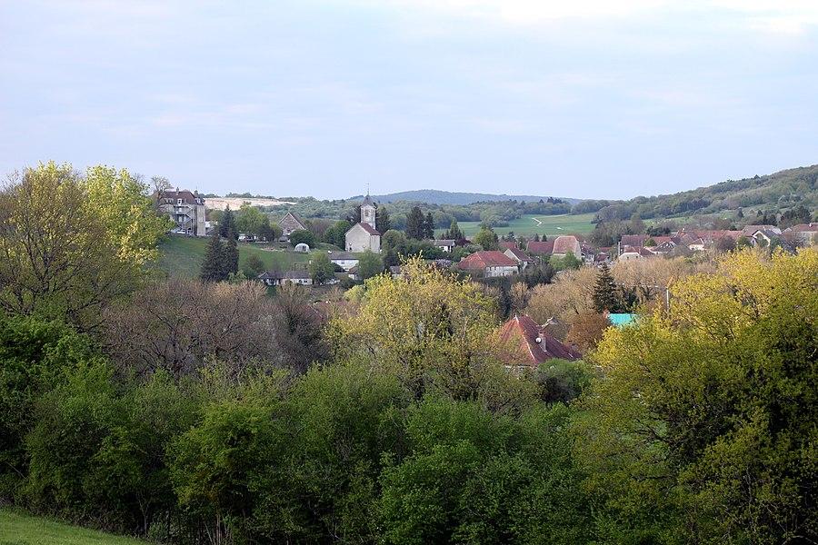 Vue de Montfort (Doubs).