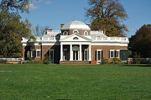 English: Monticello from the west lawn.