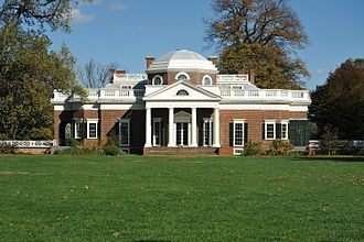 Architecture of the United States - Thomas Jefferson designed his Georgian style Monticello estate in Virginia, the only World Heritage Site home in the United States.