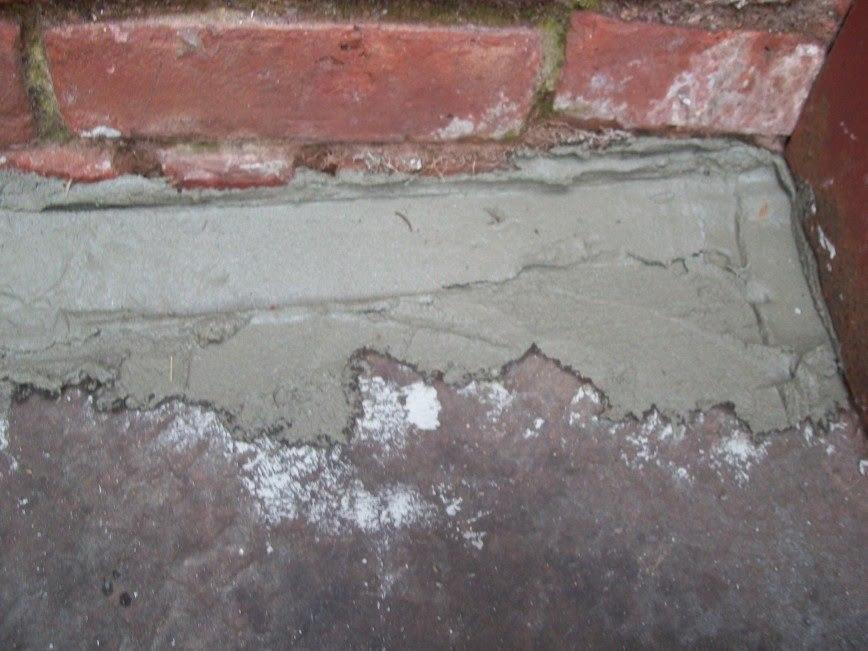 Mortar to keep basement dry