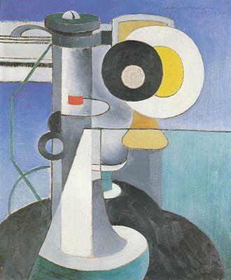 Precisionism - Image: Morton Livingston Schamberg Telephone (1916)