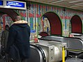 Mosaic, Tottenham Court Road station escalators - geograph.org.uk - 670175.jpg