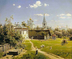 Vasily Polenov - Image: Moscow Courtyard (Polenov, 1878)