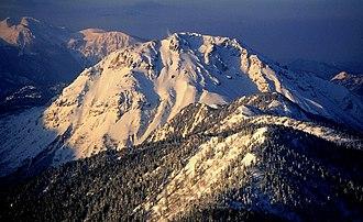 Mount Yake - Image: Mount Yake from Mount Nishi Hotake 1995 4 2