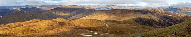 Mountains north-west of Ben Ledi including Stuc Dhudh or Ardnandave Hill, Scotland.jpg