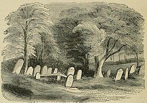 John O'Hanlon (writer) - A sketch by O'Hanlon of Moycreddin lower Cemetery (1874)