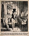 Mr. Lambkin dressing up in front of a mirror. Lithograph by Wellcome V0011253EL.jpg